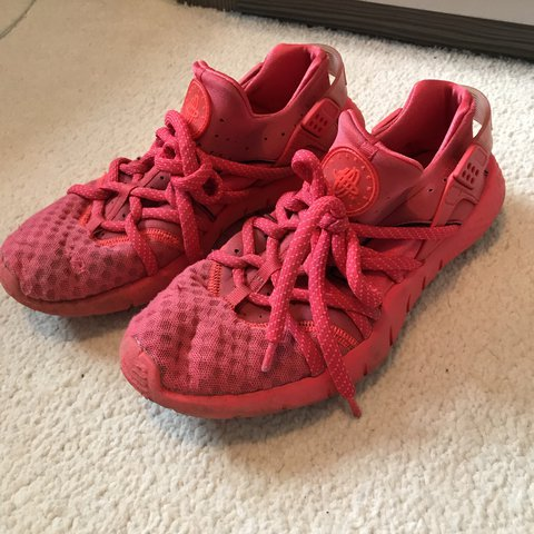 2a61f361ebec ... release date nike huarache nm red worn in but only a couple unoticeable  depop 3ec69 55065