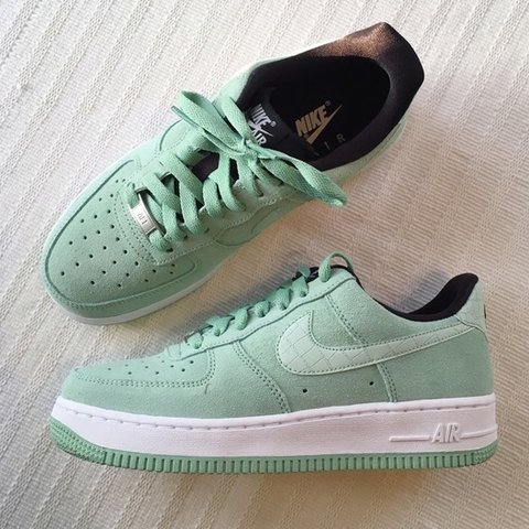 huge discount 84ac2 af02b  shannonwhiite. 7 months ago. Blackwood, United Kingdom. Nike Air Force 1  trainers (Mint Green ...