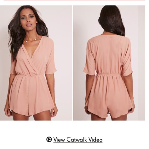 55a99c4007bd Size 12 bobby nude wrap front playsuit from never worn with - Depop