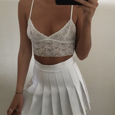 23245e36c0 the prettiest white lace cami Ignore  Urban Outfitters Asos - Depop