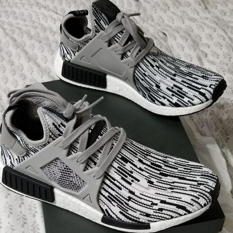 3889e9d326326 New in box ith tags Adidas nmd xr1 primeknit black oreo mens - Depop