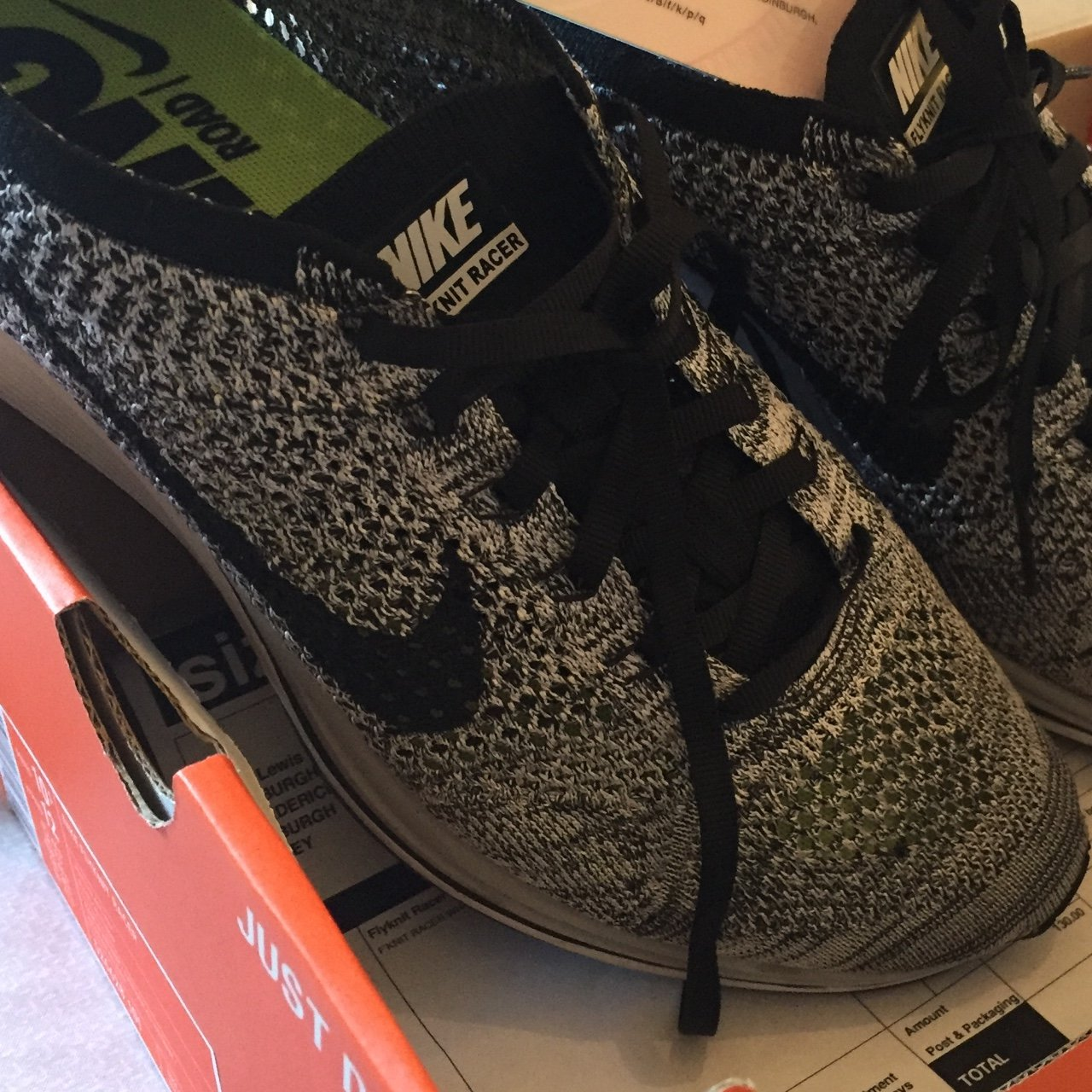 Nike flyknit racer oreo 2.0. Uk 9.5 and will fit uk 9 Worn - Depop 7fa955f035