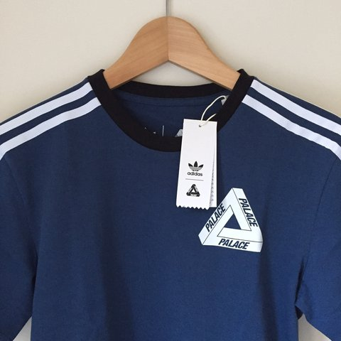 d92211267bba Palace x Adidas Tee Shirt in Marine Blue