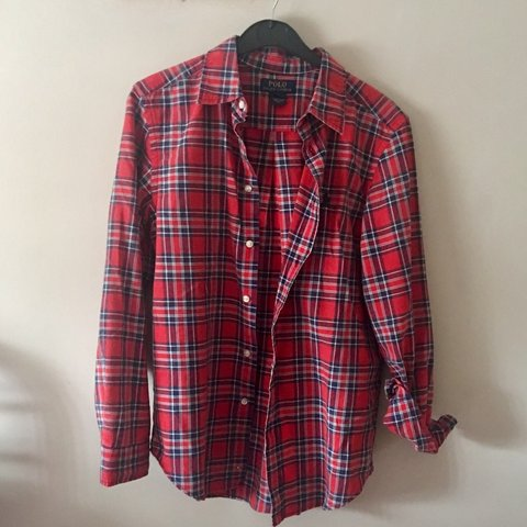 09dd1a13 @mkaurs. 2 days ago. Birmingham, United Kingdom. Ralph Lauren Polo red and  blue checked flannel shirt. Boys size large ...