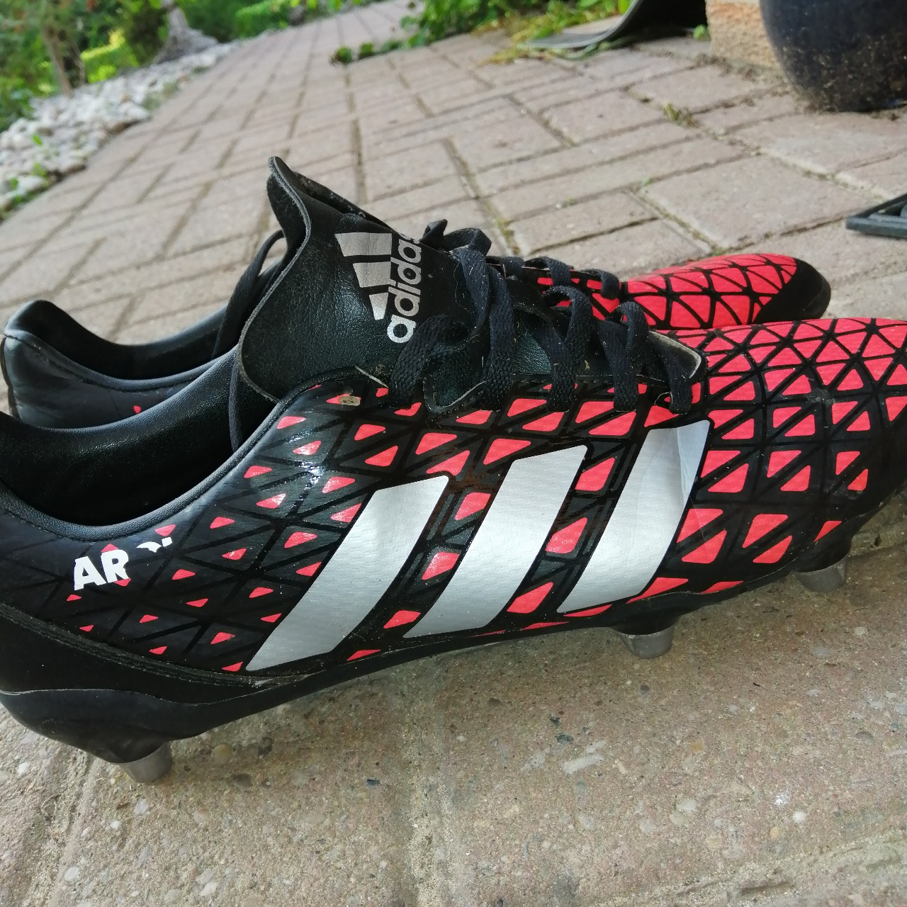 Adidas Rugby Boots Metal Studs Mens Uk 9 5 Used Depop