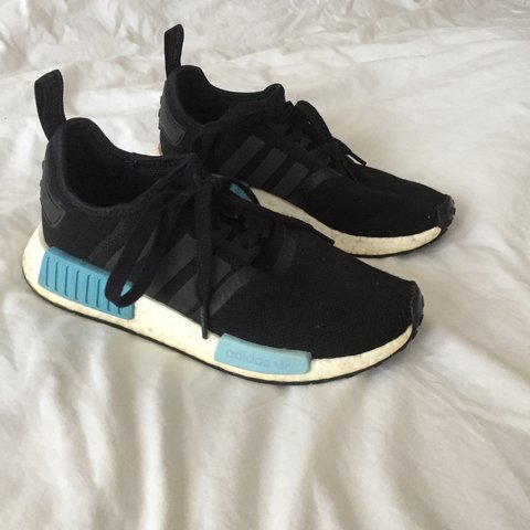 a322fda7c REDUCED FOR TODAY ONLY Adidas NMDs black with white sole 5. - Depop
