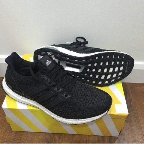 70d61150a39 Core black ultra boost 2.0 - sold out online. Size 10.5 UK - Depop