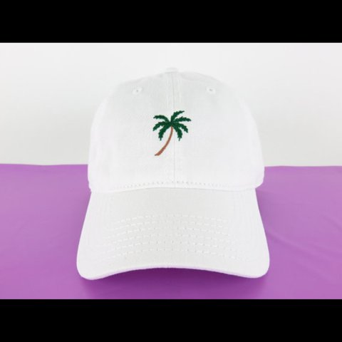 09b3faa1b66 NEW Palm Tree Dad Baseball Hat Cap low profile 100 % cotton - Depop