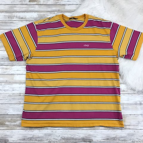 f06f28c185ac ✏ FREE SHIPPING ✏ Obey Clover Orange, Pink & Yellow logo - Depop