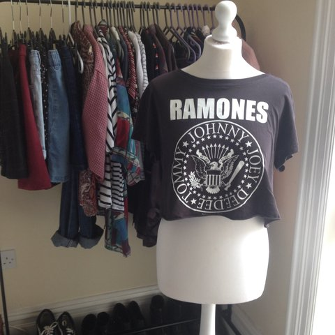 4f2ddc6f4d60ea Ramones band top originally bought from H M in size S. (Is a - Depop