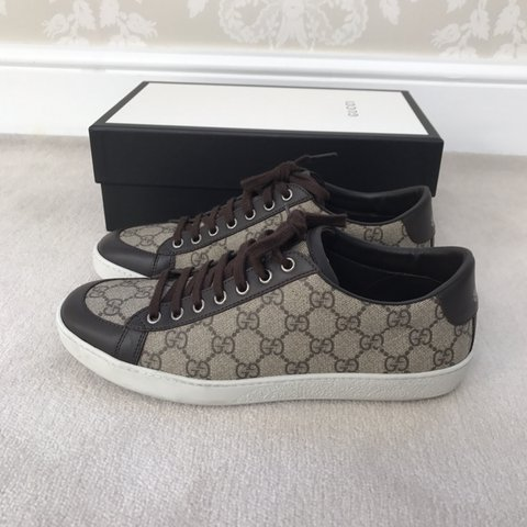 Gucci Trainer  Brooklyn GG Sneaker  - U.K. 6.5 (fit a men s - Depop 313d2524b4fa