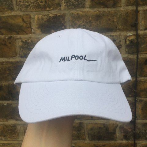 37054600ba9 White Milpool dad cap by Simpson s fan art kru The One size - Depop