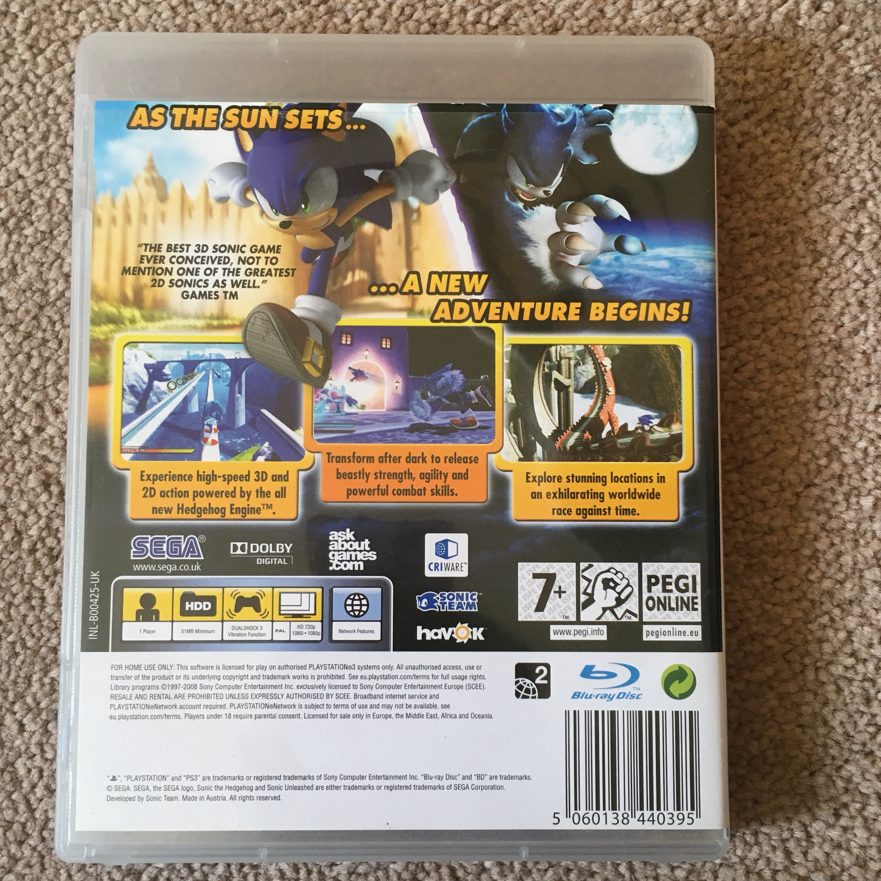 Sonic Unleashed PS3 game X - Depop