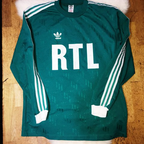 fe6b8adce Vintage early 80s Adidas ventex French cup RTL NUM 7 jersey - Depop