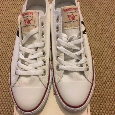 65afb0f56 @bantaqueen. 4 months ago. London, United Kingdom. BRAND NEW MENS TRUE  RELIGION TRAINERS UK SIZE 10