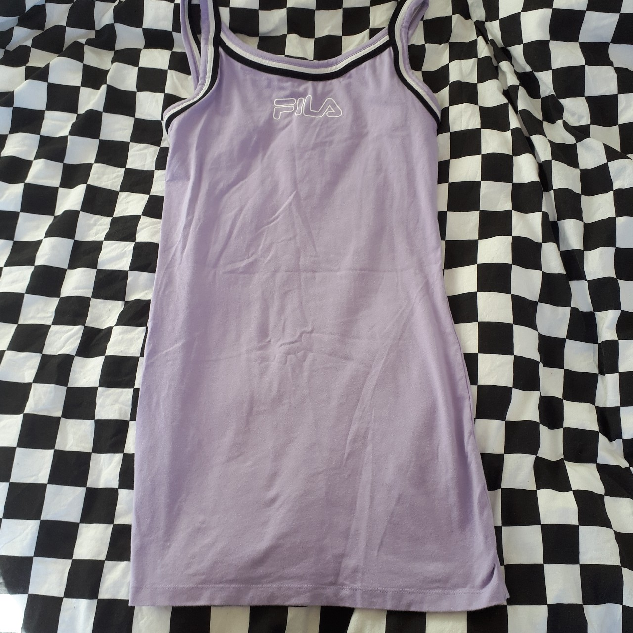 Lilac Fila dress from urban outfitters