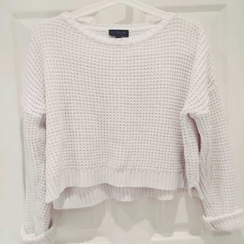 9361c60c96aeb0 @claireh13. 4 years ago. United Kingdom. Topshop White chunky knit jumper  ...