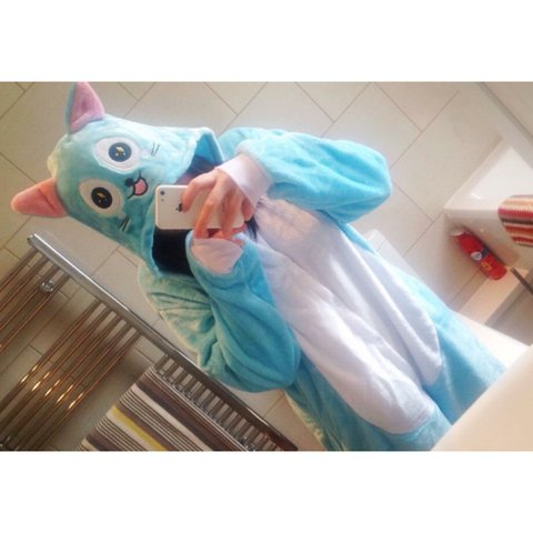 355352b6f489 Happy from fairy tail onesie. Amazing condition