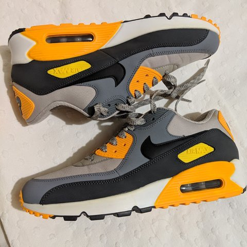 lowest price 0c0c8 3c185  b8cln. 4 months ago. Bowling, West Dunbartonshire, United Kingdom. Nike  Air Max 90 Essential – Pale Grey – Black – Anthracite – Orange ...