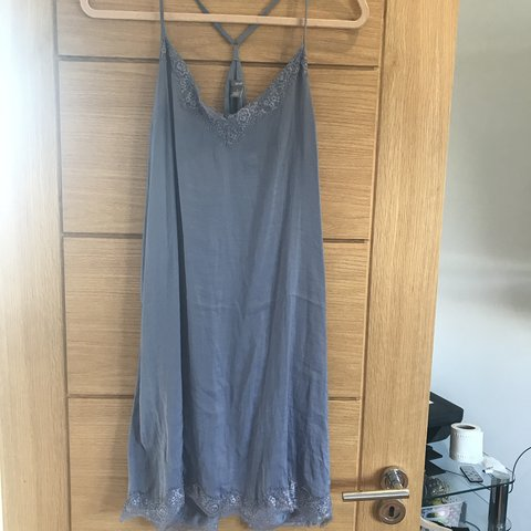 8636698d64 BLUE SLIP DRESS SIZE L Aerie (by American eagle outfitters) - Depop