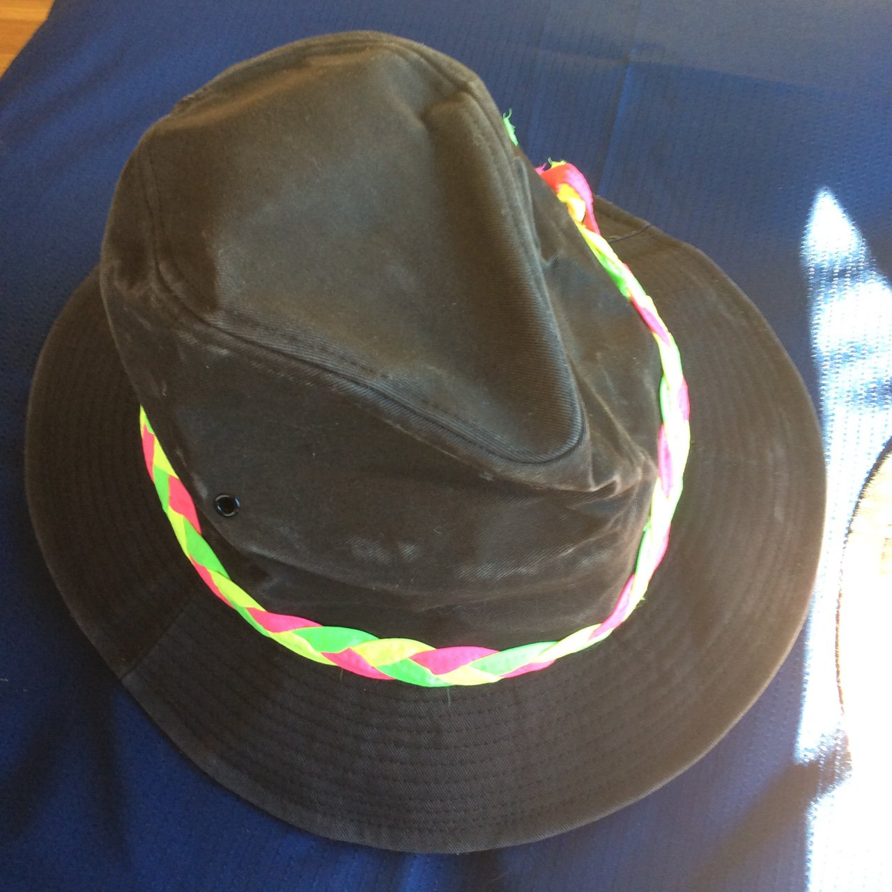 Jordache Rare Early 80s vintage hat with neon piping. Sturdy - Depop c028fa121fa2