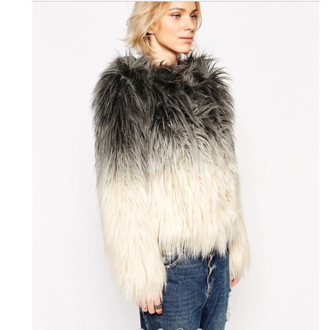 74096641f @prettyinnpiink. 9 months ago. London, UK. Asos 'Barneys originals' faux  fur jacket ...