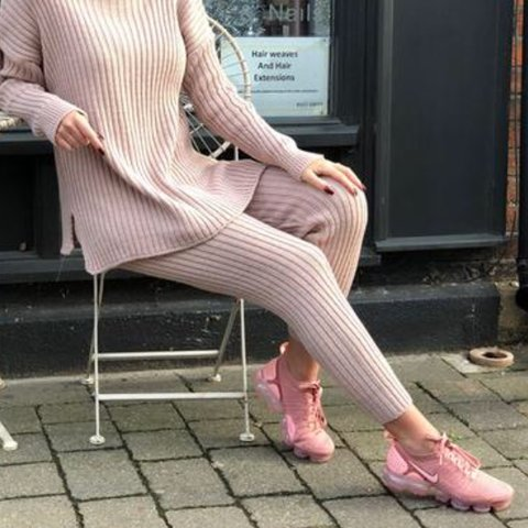 3dcdccf27135b8 @sophhaynes. last month. Ware, United Kingdom. Nude pink blush cable ribbed  knitted leggings ...