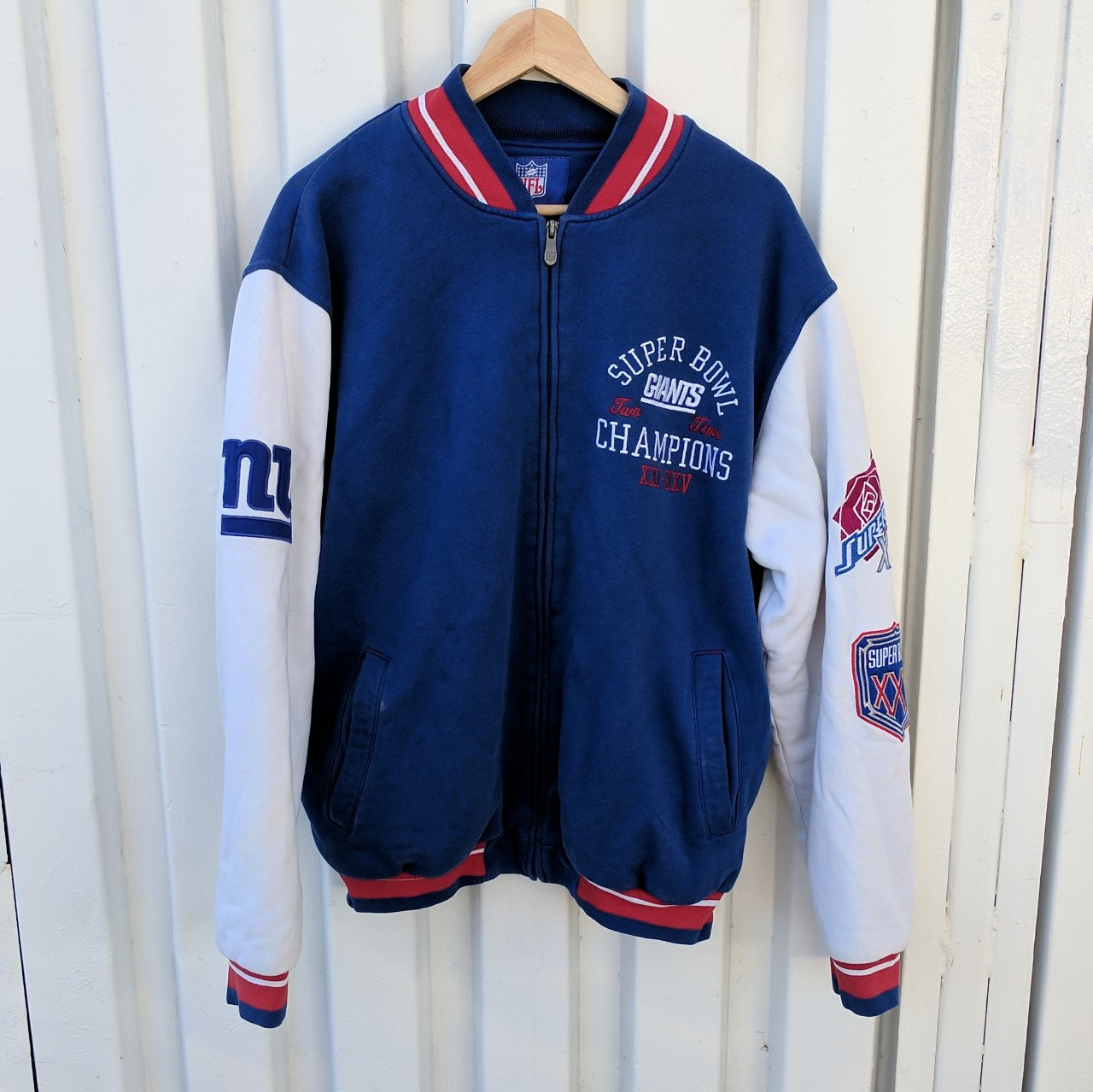 new style 0c1aa 16a6c New York Giants Super Bowl letterman jacket Size... - Depop