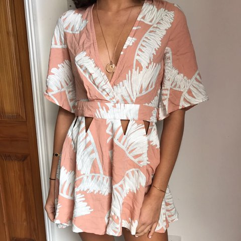 879db769fa ITS in the style playsuit palm leaf playsuit. never worn but - Depop