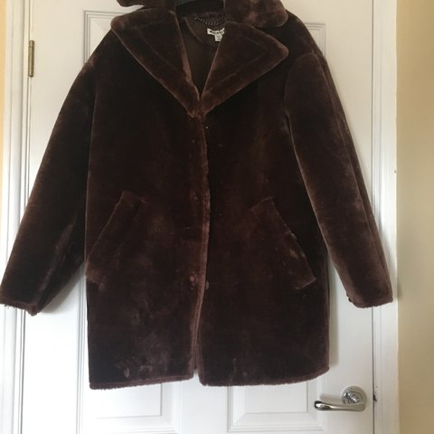 2f5a6d495a @nessa2406. 3 months ago. Selby, United Kingdom. Whistles Brown Faux Fur  Cocoon Coat ...