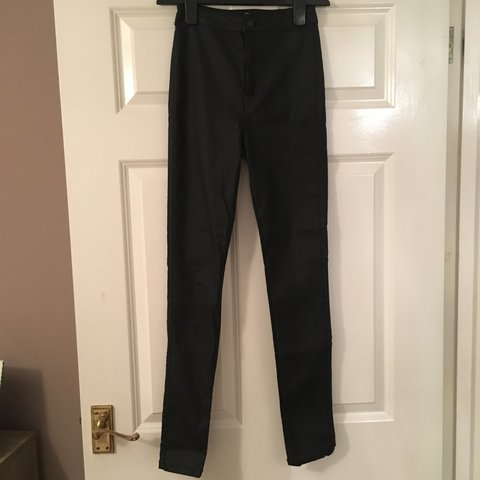 cf6108d0 @_charlottestevens_. last year. Cambridge, UK. Missguided coated black high  waisted skinny jeans ...