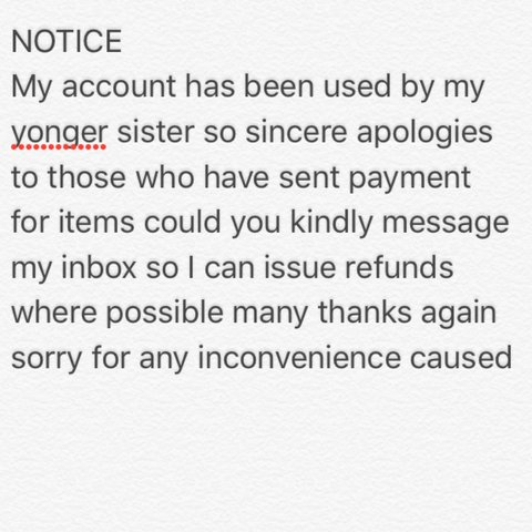 kindly accept my apologies