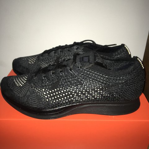official photos 10af0 53751 Nike Flyknit Racer  Midnight   Triple black, size UK 9. new, - Depop