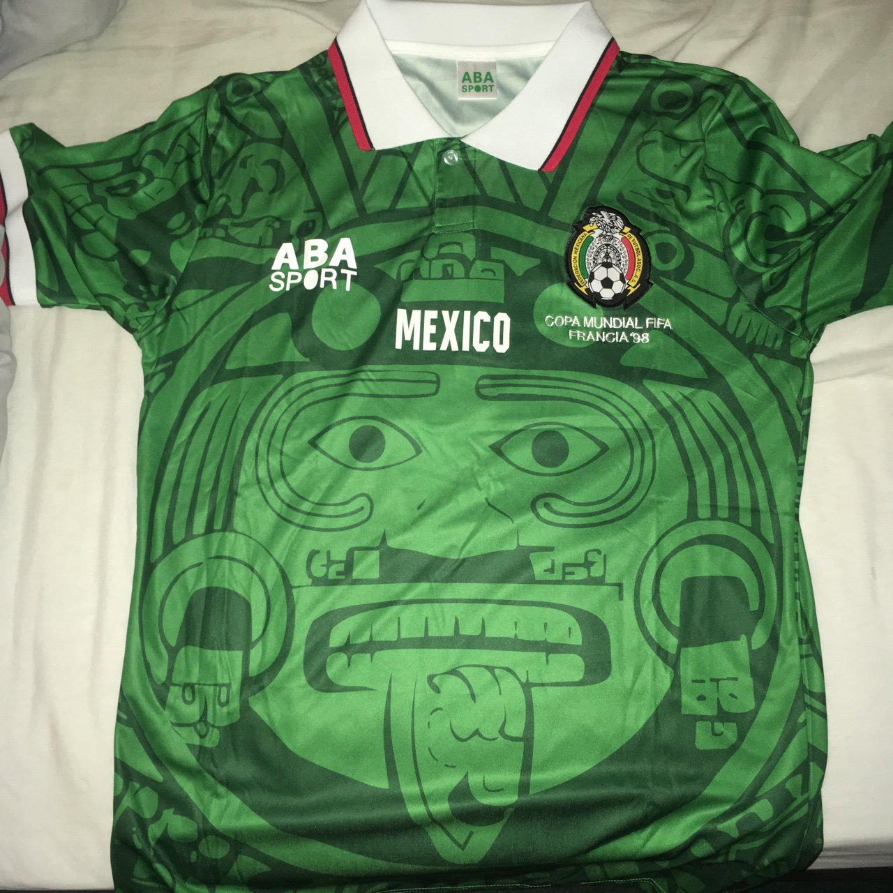 Vintage Mexico football shirt ABA sport - very rare 1998 in - Depop 680ef1bcc