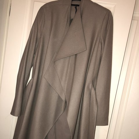 468ae5153c30 RESERVED All saints Lora coat in light grey-colour shows in - Depop