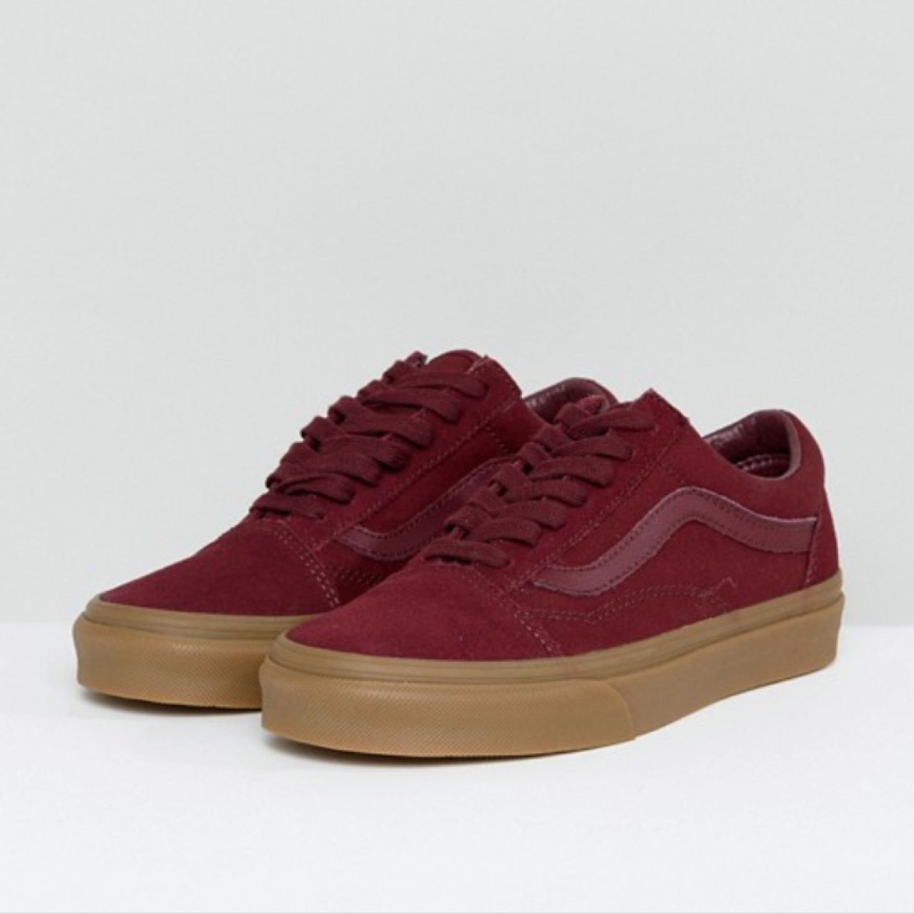 4861804e6db1 Burgundy gum sole old skool vans. So nice and only worn like - Depop