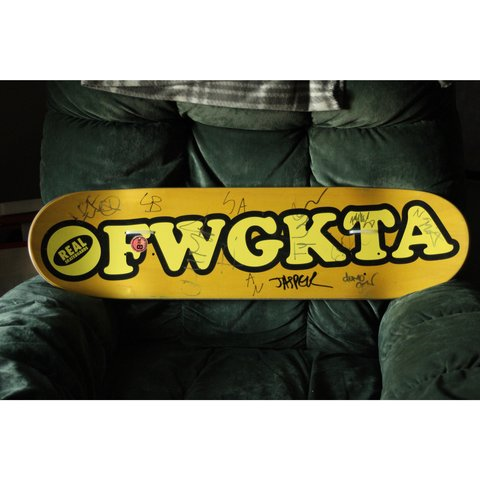 6709da63d42d Odd Future X Real Skateboards collaborative board with Chima - Depop