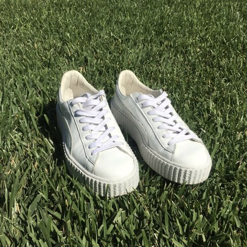 7f62557c8d840a White Rihanna Fenty x Puma Creepers. They ve only been worn - Depop