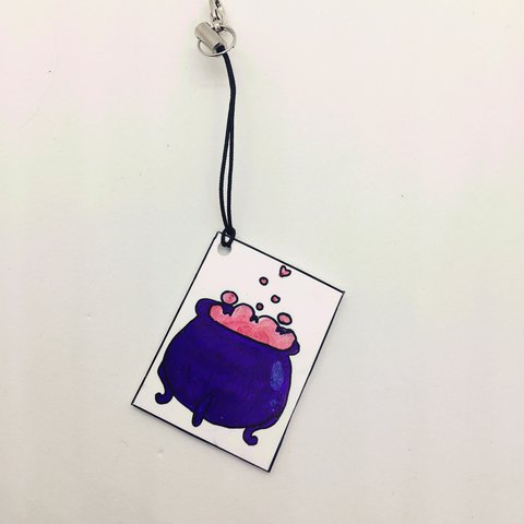 """love potion"" keychain! homemade item- 0"
