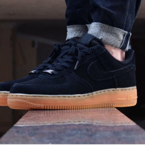 lower price with 5b96f 5935b  psanders. 3 years ago. Bristol, United Kingdom. Nike Air Force 1 black  suede gum sole.