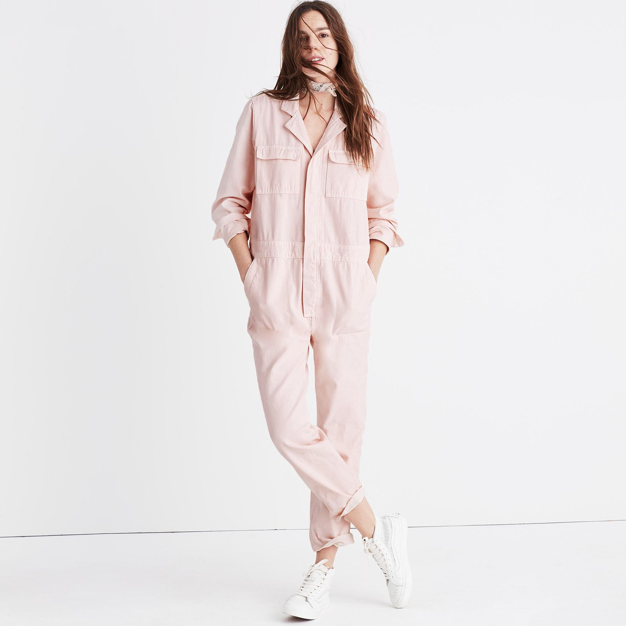 3aba2586d536 Madewell pink coverall jumpsuit size small. Spring 2017 Sold - Depop
