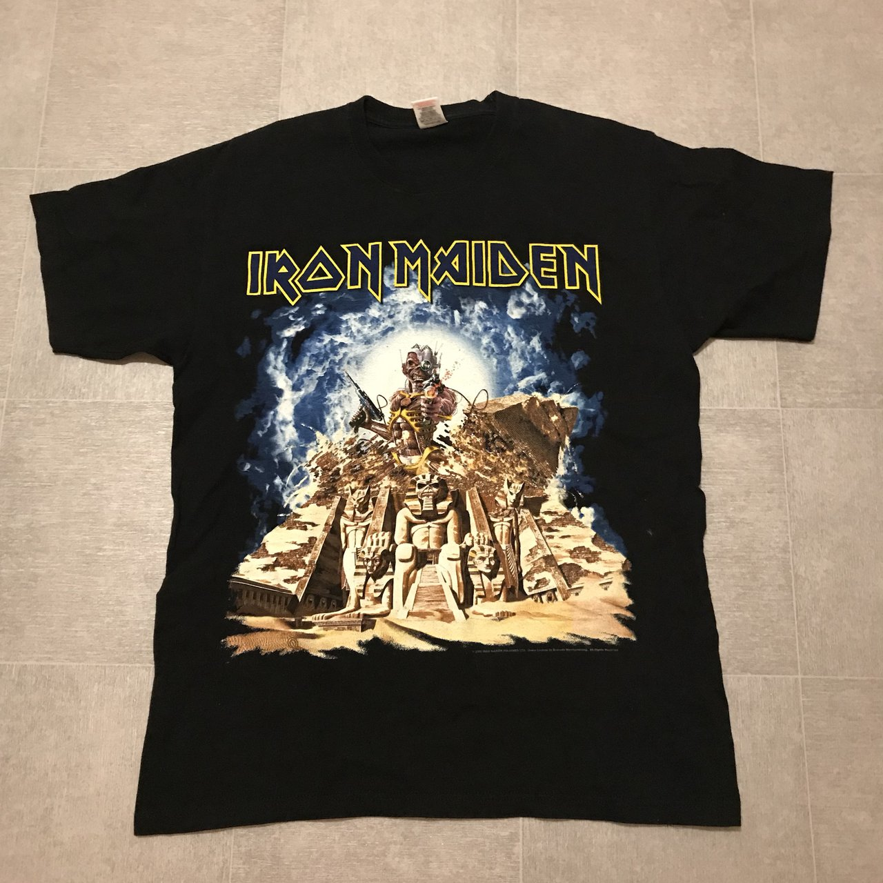 9ca0e3ed4 @glenbob. last year. Gateshead, United Kingdom. Iron maiden powerslave t  shirt