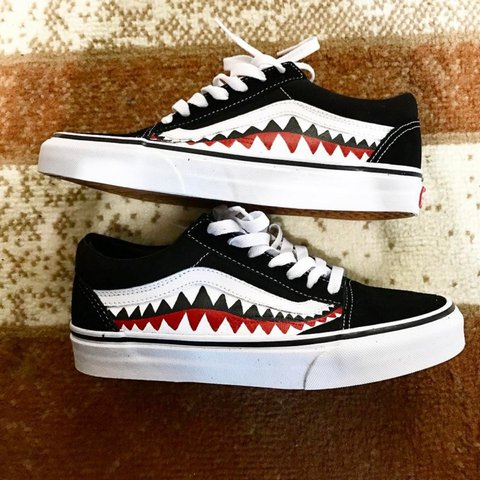 5ad8f299978164 BAPE X VANS Custom Shoes. These Are Not My Photos However To - Depop