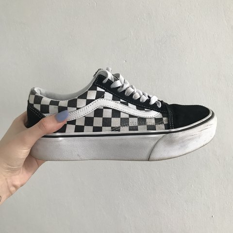 8ac801b2e2e  elliexjaynexx. 11 months ago. United Kingdom. Vans old skool platform  checkerboard trainers
