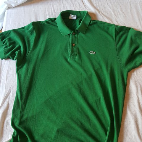 0419feee @robertrupert. 2 years ago. Bangor, United Kingdom. Size 5 vintage Lacoste  green polo shirt.