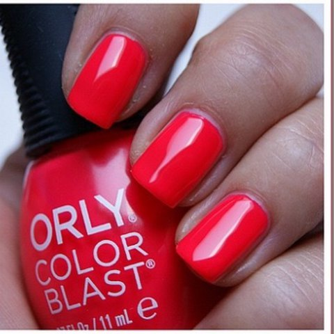 New Orly Color Blast Nail Polish 💅 Coral Pink Neon 50014 to - Depop