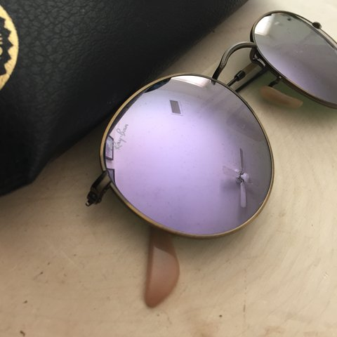 fe0868e650c Ray Ban bronze frame + purple reflective lens. Unworn and - Depop
