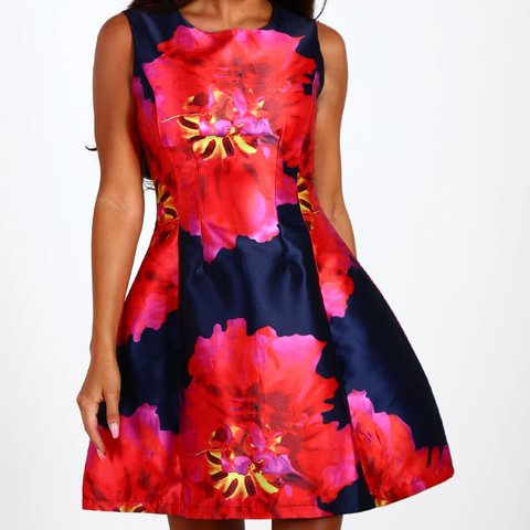 93456176 @strikecharlotte. 9 months ago. London, United Kingdom. Pink Boutique navy floral  skater dress ...