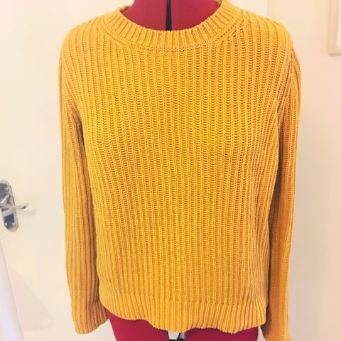 COS cotton knit jumper in mustard yellow. Has been worn 2dc3e5f2a