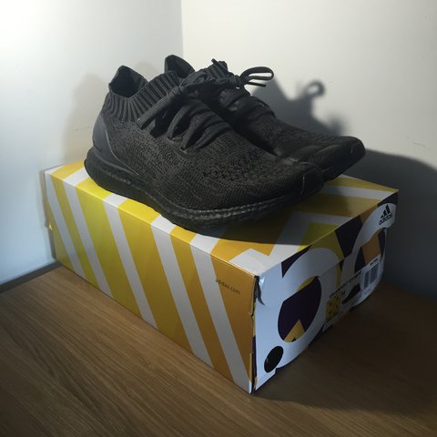 5f5aa8a88ecfd Adidas Ultra boost Uncaged Triple Black. 9 10 condition - a - Depop